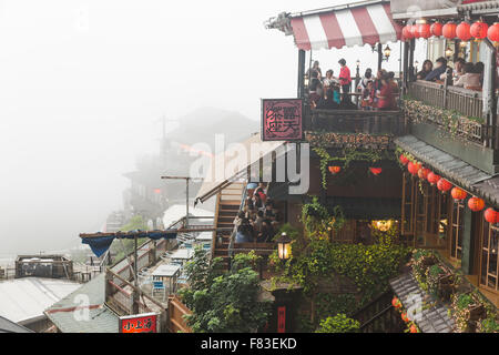 Jiufen on a Cloudy day - Stock Photo