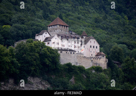 die Burg Liechtenstein, Vaduz, Liechtenstein. - Stock Photo