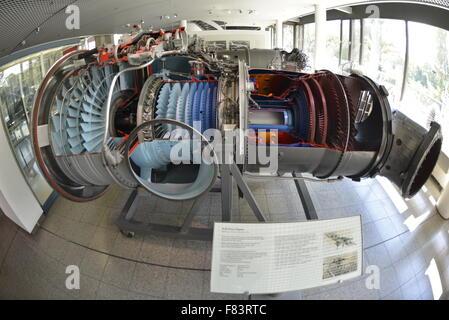 Navy and airship exhibition at  Deutsches Museum, Munich, Upper Bavaria, Bavaria, Germany - Stock Photo