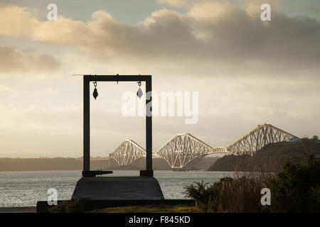 The Forth Rail Bridge phototgraphed from Inverkeithing. - Stock Photo