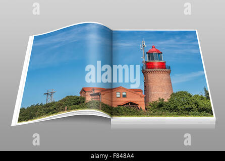 The lighthouse Bastorf is located at the Baltic Sea, Rostock, Mecklenburg-Western Pomerania, Germany, Europe - Stock Photo