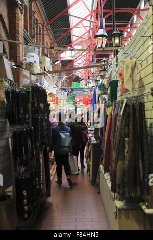 Interior view of George's Street Arcade, Dublin, Ireland - Stock Photo