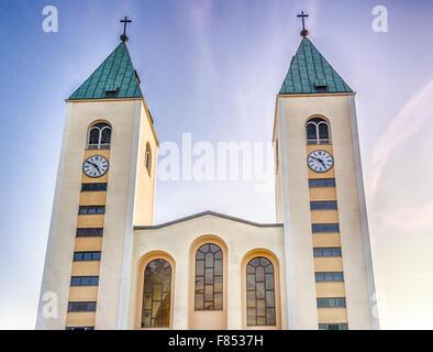 Saint James Parish Church in Medjugorje - Stock Photo
