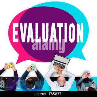 Evaluation Consideration Analysis Criticize Analytic Concept - Stock Photo