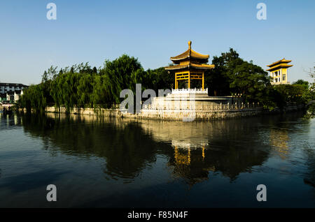 Qibao Old Town is a historic area in the Minhang District of Shanghai, China. The area is a tourist attraction, - Stock Photo