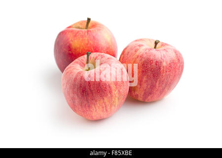 red autumn apples on white background - Stock Photo