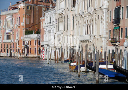 Venice, Italy, spectacular Palaces on Grand Canal - Stock Photo