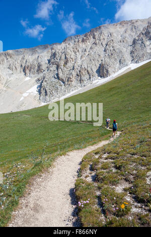 Walking in the mountains - Stock Photo