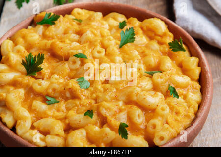 Pasta with pumpkin and cheese creamy - Stock Photo