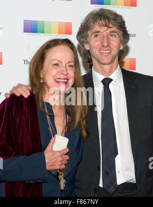 Damian Woetzel, retired Principal Dancer with the New York City Ballet, and his wife, Heather Watts arrive for the - Stock Photo