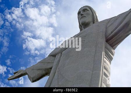 Famous Christ the Redeemer in the Rio de Janeiro, Brazil - Stock Photo