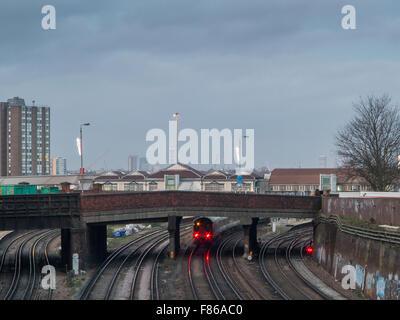 Clapham Junction - Britain's Busiest Railway Station - Stock Photo