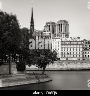 notre dame de paris cathedral with the river seine seen from bridge stock photo 53238520 alamy. Black Bedroom Furniture Sets. Home Design Ideas