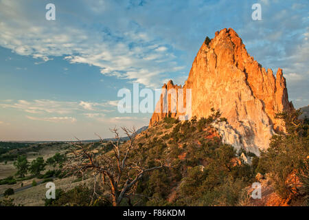 Gray Rock (Cathedral Rock), Garden of the Gods Park, Colorado Springs, Colorado USA - Stock Photo