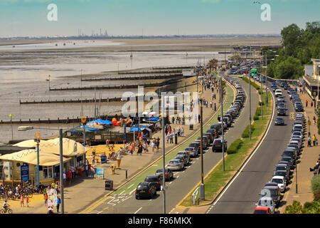 Promenade in Southend-on Sea, UK - Stock Photo