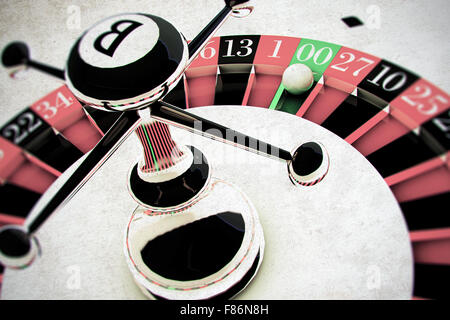 modern white roulette close up - Stock Photo