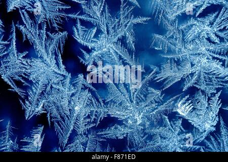 Frost formation on a window - Stock Photo