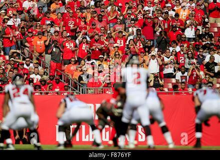 Tampa, Florida, USA. 6th Dec, 2015. DIRK SHADD | Times .Tampa Bay Buccaneers fans try to make the defense come alive - Stock Photo