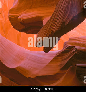 sandstone formations in antelope canyon near page, arizona - Stock Photo