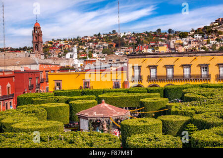 Jardin Town Tree Square San Miguel de Allende Mexico. - Stock Photo