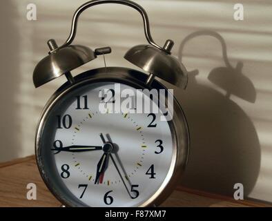 Analog alarm clock - Stock Photo