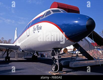 Convair CV880 named the Lisa Marie, Elvis Presleys private jet, Memphis, Tennessee, United States of America. - Stock Photo