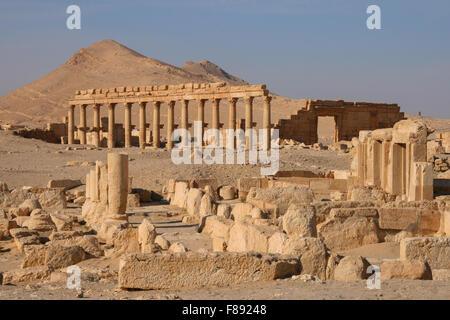 ruins of the ancient (200BC) city of Palmyra - Stock Photo