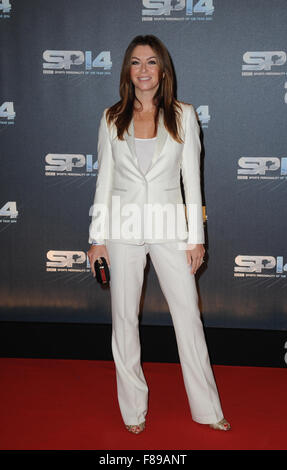 Suzi Perry attends the BBC Sports Personality of the Year awards at The SSE Hydro  Glasgow, Scotland. - Stock Photo