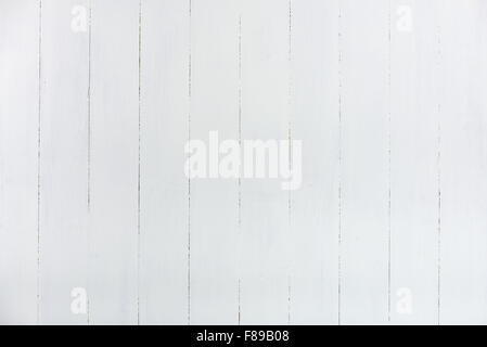 Texture of wall made from wooden panels painted white - Stock Photo