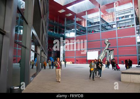 Library. Centro de Arte Reina Sofia National Museum, Madrid, Spain. - Stock Photo