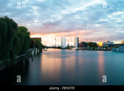 View over River Spree, Berlin, Germany - Stock Photo