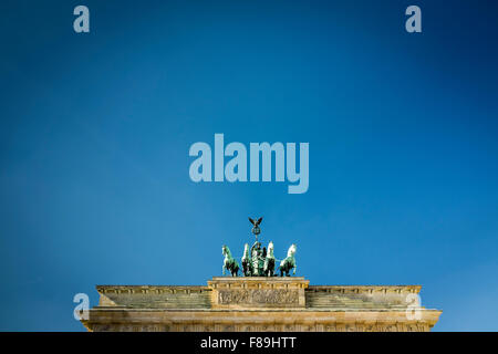 Quadriga on the Brandenburg Gate, Berlin, Germany - Stock Photo