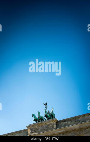 Quadriga on the Brandenburg Gate, Berlin, Germany - Stock Photo