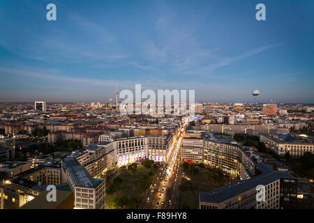 Skyline Berlin, Potsdamer Platz, Germany - Stock Photo