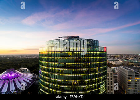 Skyline Berlin, Potsdamer Platz,  Germany - Stock Photo