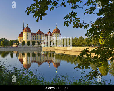 Moritzburg Castle near Dresden, Saxony, Germany - Stock Photo