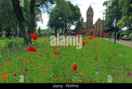 Walsall Arboretum in summer, West Midlands, England,UK - Stock Photo
