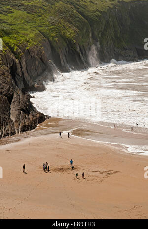 Mwnt Beach on the Ceredigion, or Cardiganshire, coast in West Wales, UK - Stock Photo