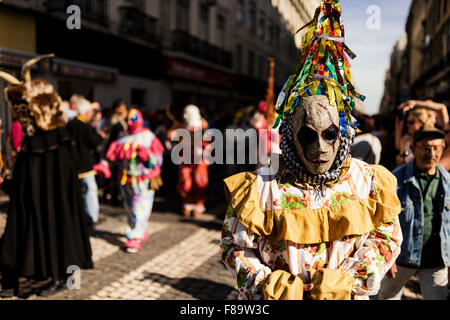 International Festival Iberian Mask, Lisbon, Portugal - Stock Photo