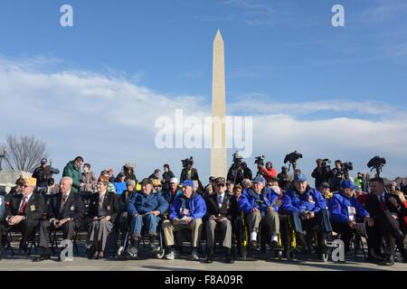 Washington, DC, USA. 7th Dec, 2015. Veterans attend the ceremony marking the 74th anniversary of the attack on Pearl - Stock Photo