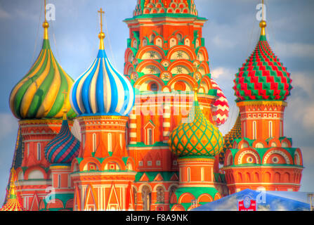 St. Basil's Cathedral. Moscow, Russia Federation, Red Square, Built 1554-61 - Stock Photo