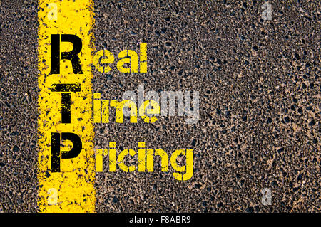 Concept image of Accounting Business Acronym xxxxxxxxxxxxxxxxx  written over road marking yellow paint line. - Stock Photo