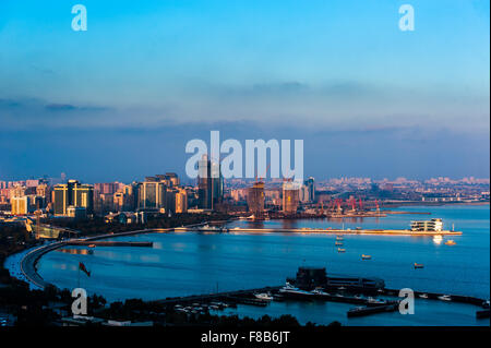 City view of the capital in Baku, Azerbaijan - Stock Photo