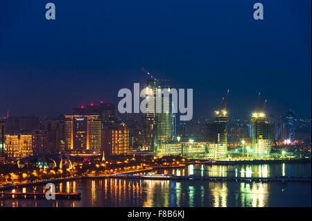 Night view of the Baku city - Stock Photo