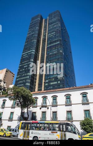 Imperial Palace, Paço Imperial, Praça Quinze de Novembro, Rio de Janeiro, Brazil - Stock Photo