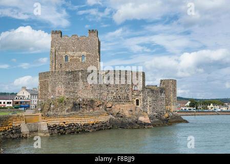 Carrickfergus Castle in Belfast, Northern Ireland, United Kingdom - Stock Photo