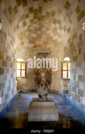 Interior of the Grand Master's Palace, Rhodes Town, Rhodes, Dodecanese, Greece - Stock Photo