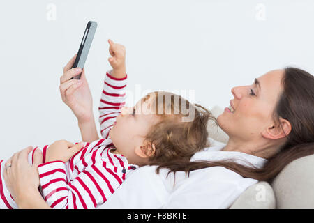 2 year-old boy with cell phone.