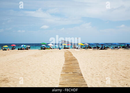 The beach in Benidorm Stock Photo, Royalty Free Image: 42124205 - Alamy