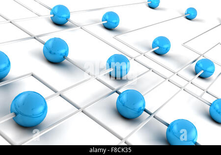 Networking and internet concept.3D Net - Stock Photo